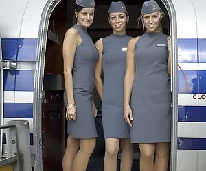 Stewardesses In Pantyhose